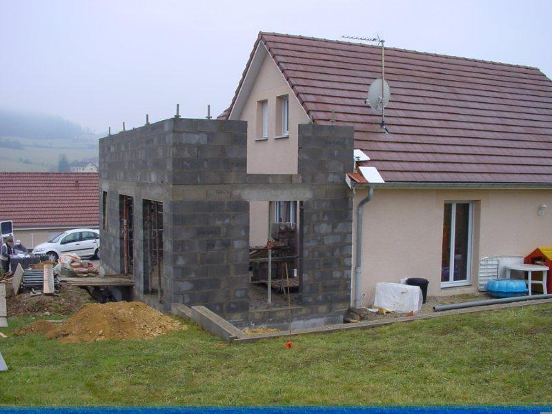 Photo agrandissement maison for Extension contemporaine maison traditionnelle
